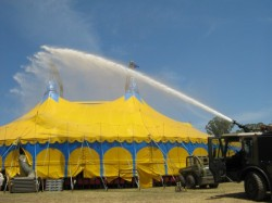 Tent cleaning